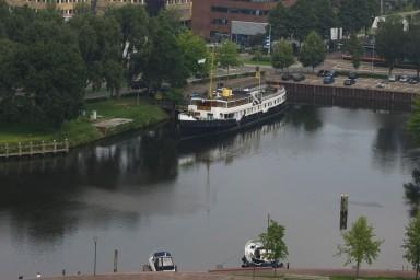 De Oosterschelde ligt nu in Zwolle. (foto's PSDnet)