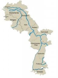 In de Rijn corridor heeft de binnenvaart een groter aandeel in de modal split dan het spoor. (illustratie BAG)