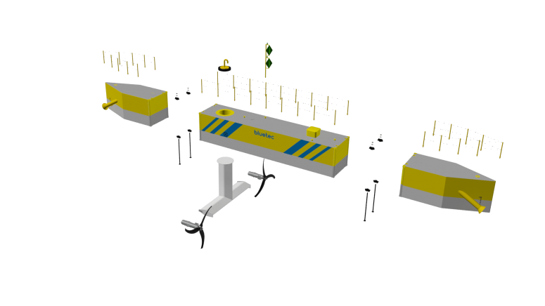 Het platform is uit modules opgebouwd. een concept uit de koker van Damen Shipyards.