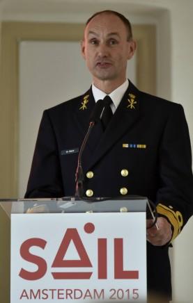 Sail-voorzitter Arie-Jan de Waard. (foto E.J. Bruinekool Fotografie)