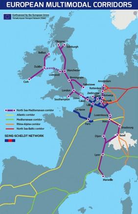 Het Seine-Noordkanaal is een cruciale verbinding in het Trans-Europese Netwerk van vaarwegen.