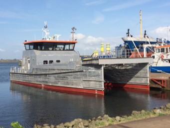 Damen had het casco van de FSC 2610 op voorraad. Daardoor kon het schip snel in de vaart worden gebracht. (foto's Damen Maaskant Shipyards)