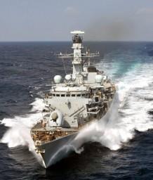 Het Britse fregat Portland. (foto: Crown Copyright)