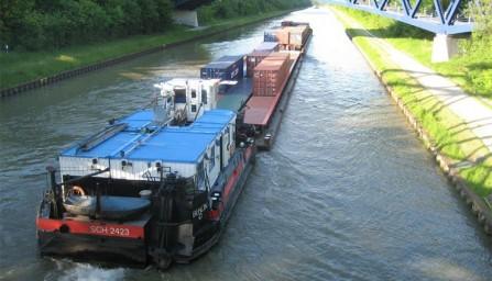 De vaart op het Elbe-Seitenkanaal. (Foto: Hafenbetrieb Braunschweig)
