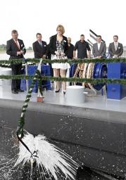 De Rhenus Duisburg bij de doop. (foto Frank Elschner)