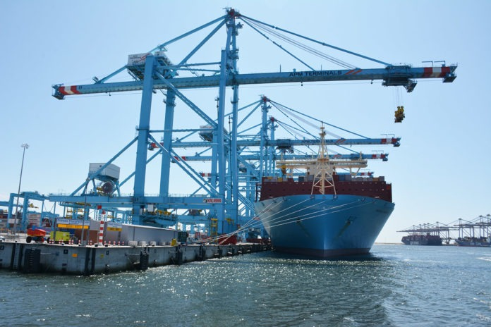containers Maasvlakte 2 APMT