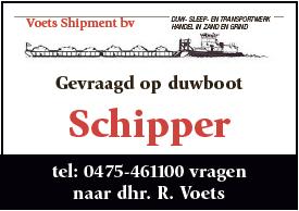 Schipper op duwboot