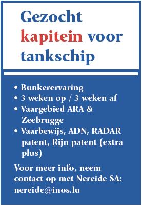 Kapitein voor tankschip