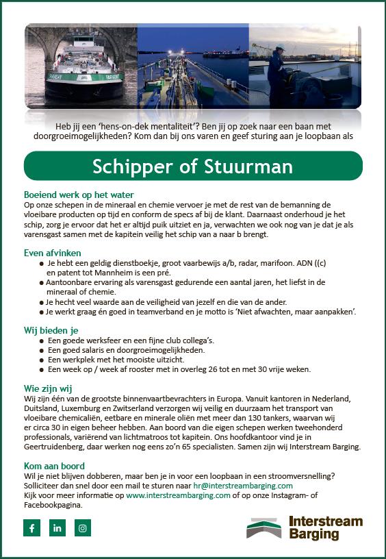 Schipper of Stuurman