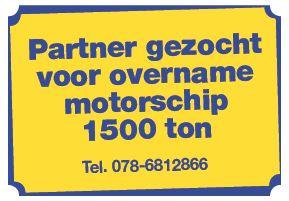 Partner gezocht voor overname motorschip