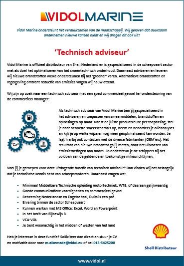 'Technisch adviseur' gezocht