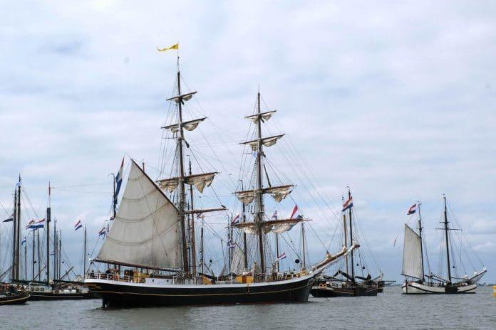 protesterende charterschepen