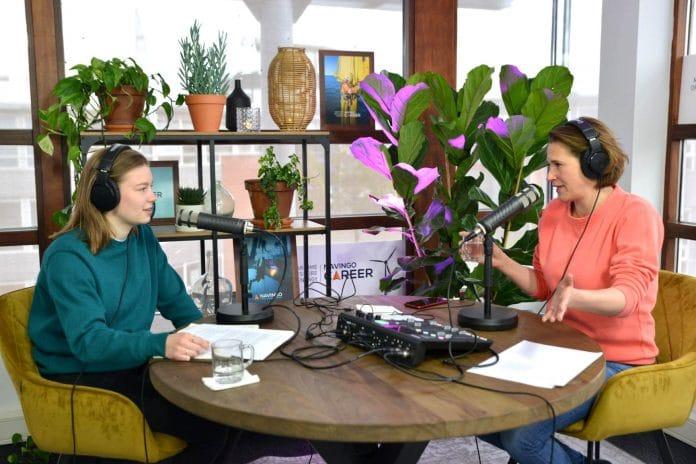 Anna Koper en Coco Kossmann tijdens Navingo Career Podcast