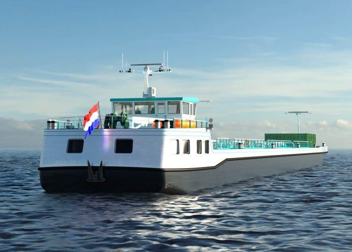 ontwerp schip waterstofconcept Hydrogenius