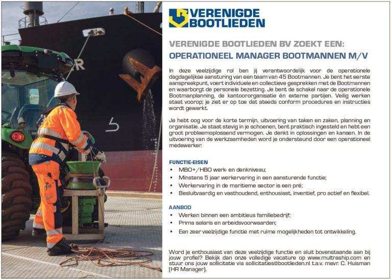OPERATIONEEL MANAGER BOOTMANNEN M/V