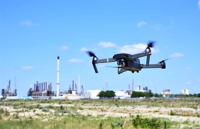 vliegende drone
